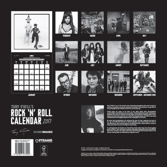 Kalender Terry O'Neill Rock 'n' Roll 2017, PYRAMID POSTERS