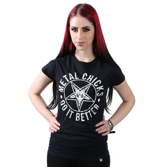 Damen T-Shirt Hardcore - Pentagramm - METAL CHICKS DO IT BETTER, METAL CHICKS DO IT BETTER