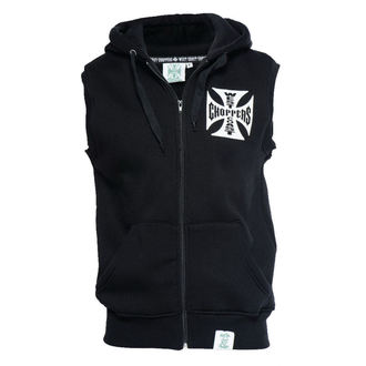 Herren Vest - IRON CROSS SLEEVELESS HOODY - West Coast Choppers, West Coast Choppers