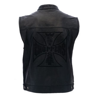 Weste - OG CROSS LEATHER RIDING - West Coast Choppers, West Coast Choppers