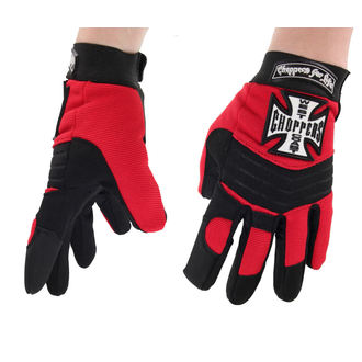 Handschuhe West Coast Choppers - RIDING - SCHWARZ / ROT, West Coast Choppers