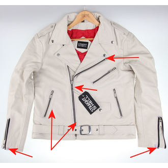 Lederjacke - Commando Wht - STRAIGHT TO HELL, STRAIGHT TO HELL