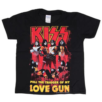 Kinder T-Shirt Metal Kiss - Love Gun - LOW FREQUENCY, LOW FREQUENCY, Kiss