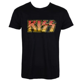 Herren T-Shirt Metal Kiss - Distressed Logotype - HYBRIS, HYBRIS, Kiss