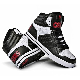 Hohe Unisex Turnschuhe - Clone Black/Red/White - OSIRIS, OSIRIS