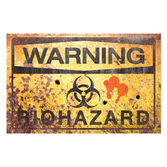 Dekoration (Schild) Warning Bio Hazard