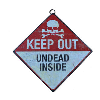 Schild Keep Out- Undead Inside