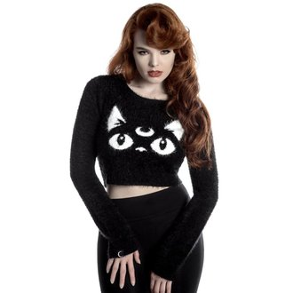 Damen Pulli KILLSTAR - Keiko Kitty - Schwarz, KILLSTAR