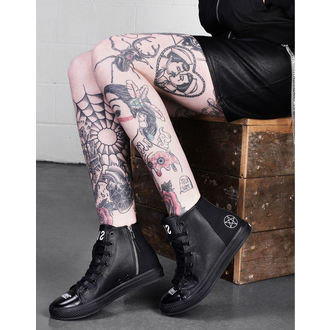 High Top Sneakers Unisex - NEVER KNEEL - DISTURBIA, DISTURBIA