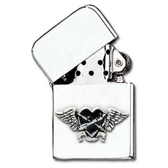 Feuerzeug Black Heart Petrol Lighter AAZ45 - Alchemy Gothic