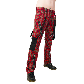 Hose Black Pistol - Punk Pants Tartan Red-Green - B-1-01-060-04