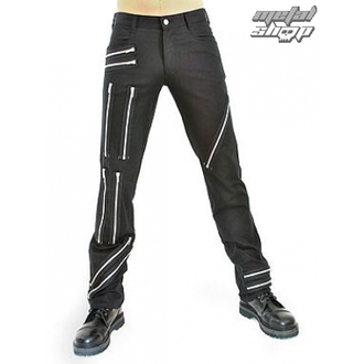 Herrenhose Black Pistol - Zipper Pants Black Denim - B-1-25-001-00