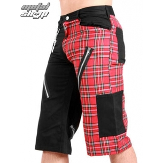 Herren Shorts   Black Pistol - Tartan Short Pants Black/Red - B-1-45-060-04