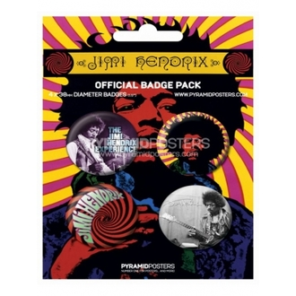 Button - Jimi Hendrix - BP80100 - Pyramid Posters