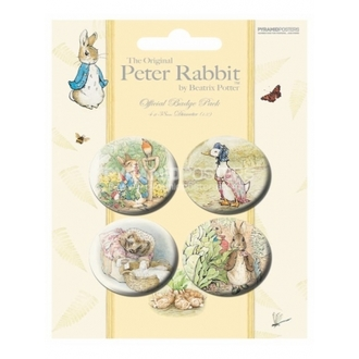 Button - Beatrix Potter - BP80167 - Pyramid Posters
