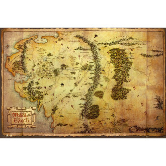 Poster The Hobbit - Map - GB Posters - FP2804