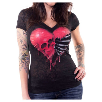 Damen T-Shirt Hardcore - ANGEL RIBCAGE HEART - LETHAL THREAT, LETHAL THREAT