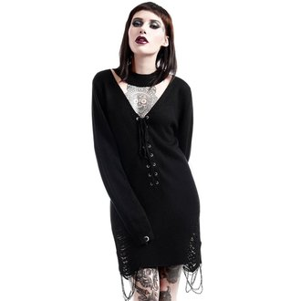 Damen Pullover KILLSTAR - Hell In Harlow Distress Knit - Schwarz, KILLSTAR