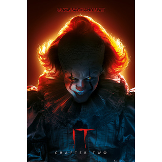 Poster IT 2 - Pennywise - COME BACK AND PLAY - PYRAMID POSTERS, PYRAMID POSTERS