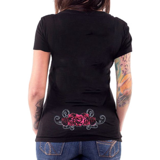 Damen T-Shirt Hardcore - ANGEL RED CATRINA BLACK - LETHAL THREAT, LETHAL THREAT
