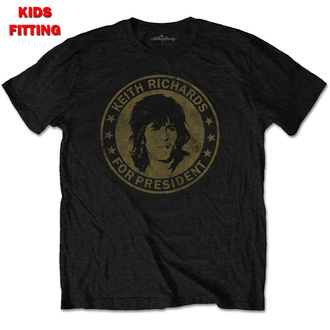 Kinder T-Shirt Metal Rolling Stones - Keith For President - ROCK OFF, ROCK OFF, Rolling Stones