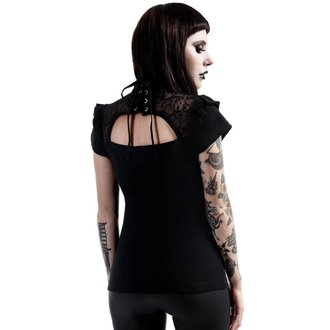 Damen T-Shirt Top - Vivi Vamp New Moon - KILLSTAR, KILLSTAR