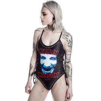Damen Badeanzug KILLSTAR - Marilyn Manson - Organ Grinder One Piece - Schwarz, KILLSTAR, Marilyn Manson