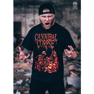 Herren T-Shirt Metal Cannibal Corpse - PILE OF SKULLS - PLASTIC HEAD, PLASTIC HEAD, Cannibal Corpse