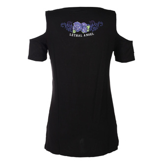 Damen T-Shirt Hardcore - ANGEL PURPLE SKULL - LETHAL THREAT, LETHAL THREAT