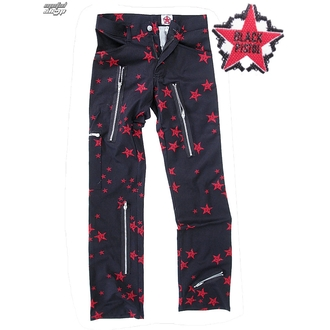 Hose Men Black Pistol - Two Leg Pants Stars - Black/Red - B-1-26-322-04