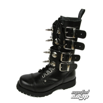 Schuhe BOOTS AND BRACES - Scare 4-buckles - SCHWARZE - 601404