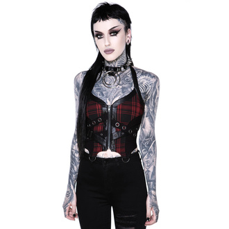 Damen Korsett KILLSTAR - Cadaver Zip Top - TARTAN, KILLSTAR