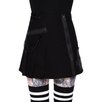 Damen Rock KILLSTAR - Calling Alice Mini Skirt - SCHWARZ, KILLSTAR