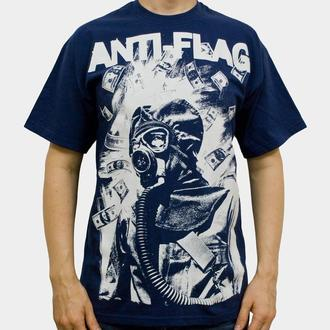 Herren T-Shirt  Anti Flag (Gasmask) - KINGS ROAD - Blue Navy - 00160