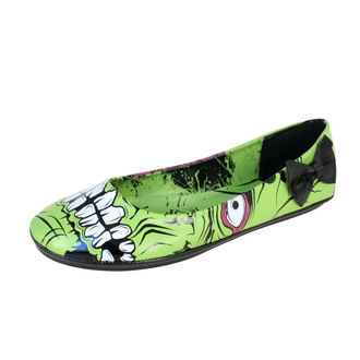 Ballerinas IRON FIST - Zombie Stomper Flat IFL0113 - BLACK/GREEN