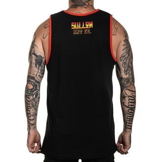 Herren Tanktop SULLEN - ORANGE CRUSH - SCHWARZ / HELL ROT, SULLEN