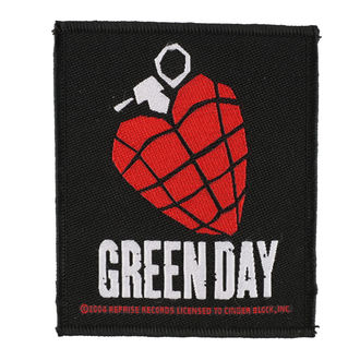 Aufnäher GREEN DAY - HEART GRENADE 1 - RAZAMATAZ, RAZAMATAZ, Green Day