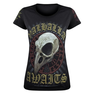 Damen T-Shirt VICTORY OR VALHALLA - CROW SKULL, VICTORY OR VALHALLA
