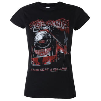Damen T-Shirt Metal Aerosmith - Train kept a going - LOW FREQUENCY, LOW FREQUENCY, Aerosmith