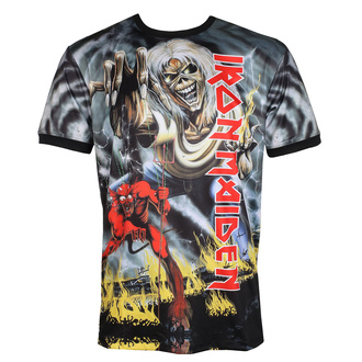 Herren T-Shirt (technisch) IRON MAIDEN - NUMBER OF THE BEAST - SCHWARZ - AMPLIFIED, AMPLIFIED, Iron Maiden