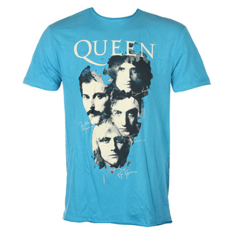 Herren T-Shirt QUEEN - AUTOGRAPHS - Teal PANTHER - AMPLIFIED, AMPLIFIED, Queen