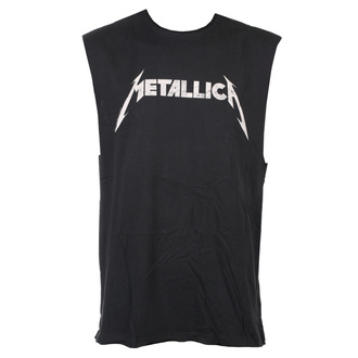 Unisex Tanktop Metallica - White Logo - AMPLIFIED, AMPLIFIED, Metallica